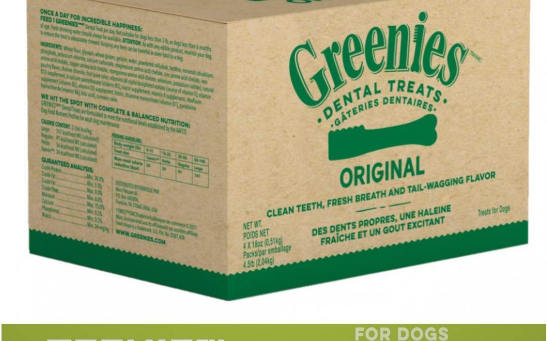 Greenies Dog Dental Chews Dog Treats – Teenie Size – 260 Ct ONLY $32.50