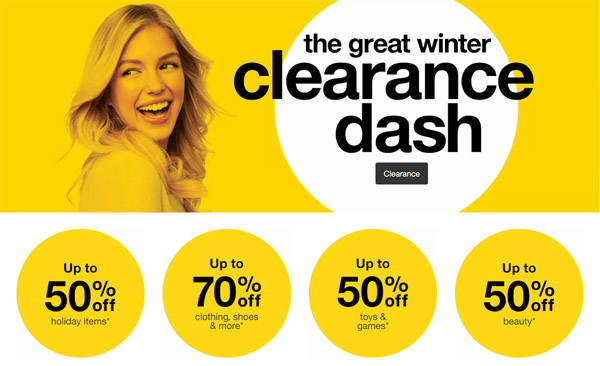 Dash on Over to Target.com for Their Annual Clearance Dash – Save up to 70%!
