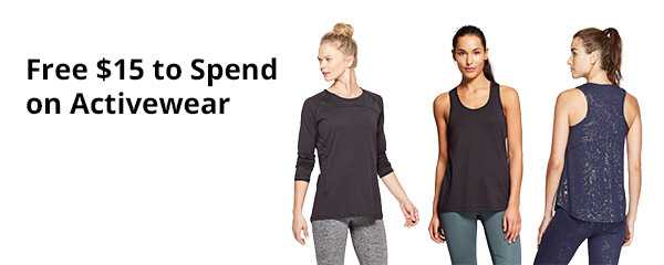 Get $15 FREE to Spend on Target's NEW Activewear Line – All In Motion ~ Exp 1/17/20