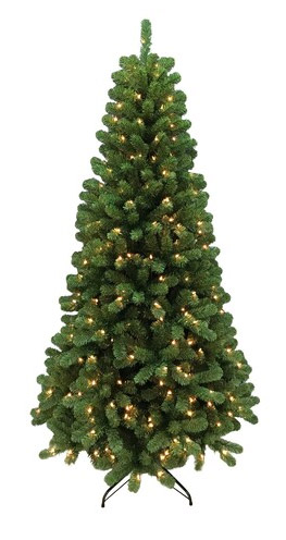 7 Ft Pre-Lit Christmas Tree ONLY $48.99! Was $349.99