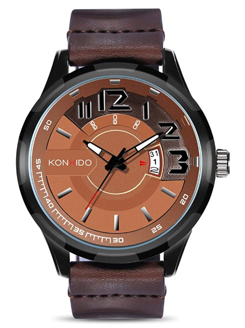 Men's Watch Leather Band Was $149.99 NOW ONLY $17.82 ~ That's 88% OFF!