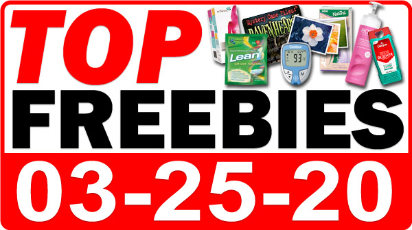 Top Freebies for March 25, 2020