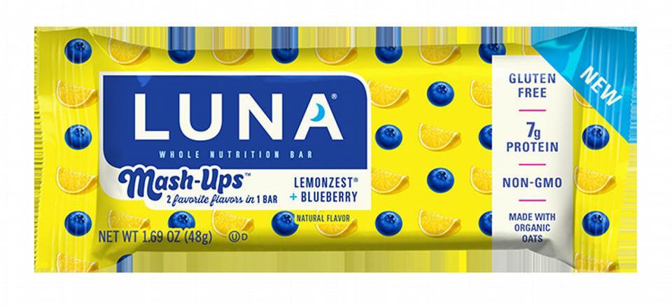 QUICK ~ Request a FREE LUNA Mash-Ups LEMONZEST + BLUEBERRY Bar