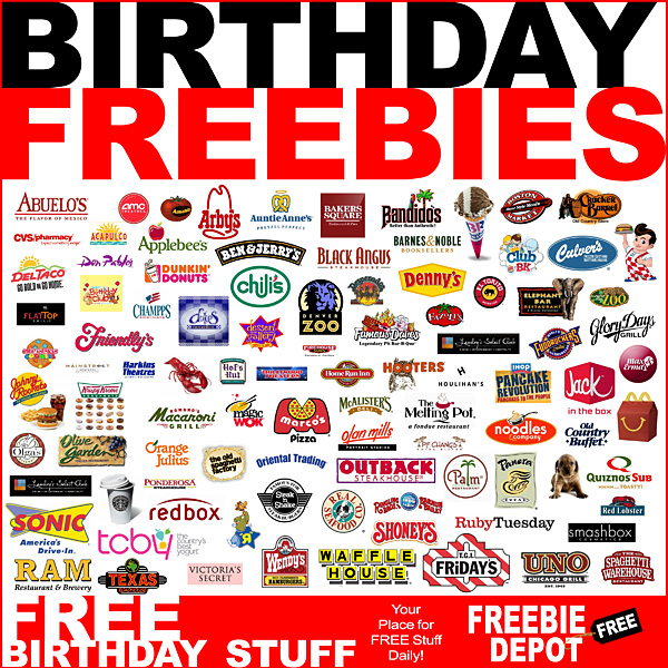 2020 Birthday Freebies – FREE Birthday Stuff – Free Birthday Food – Birthday Deals – Free Birthday Gifts
