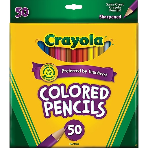 FREE Crayola Colored Pencils 50 Count – $10 Value – Exp 8/23/20