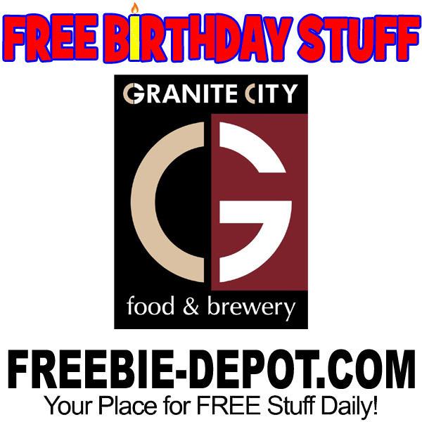 FREE BIRTHDAY STUFF – Granite City Food & Brewery