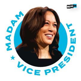 FREEMadam Vice President Kamala Harris Sticker