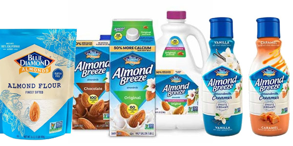 Try EIGHT Blue Diamond Almond Products for FREE!