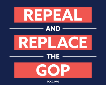 """Get a FREE """"Repeal and Replace the GOP"""" Sticker Today"""