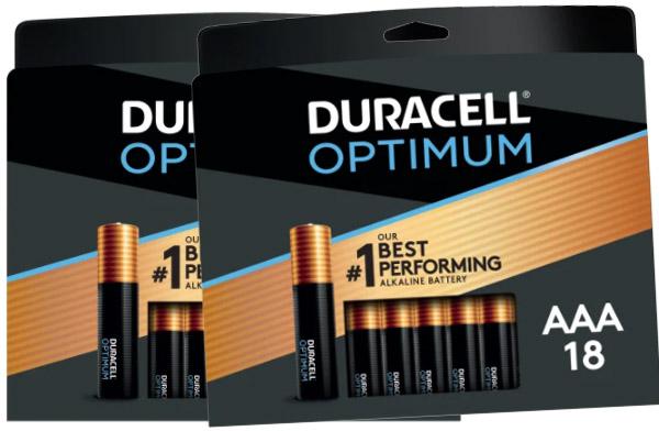 FREE AFTER REBATE – 36 Duracell Optimum Batteries thru 10/9/21